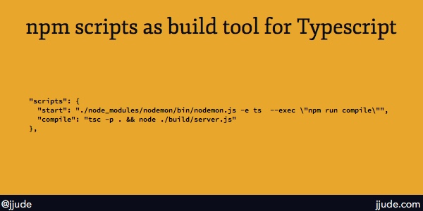 npm as build tool for typescript