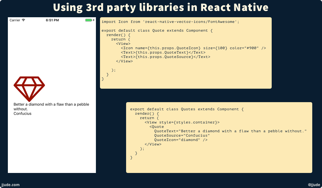 Using 3rd Party Libraries in React Native