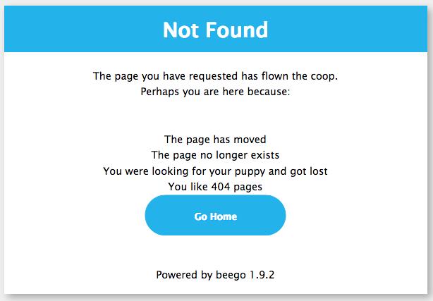 Beego Not Found Error