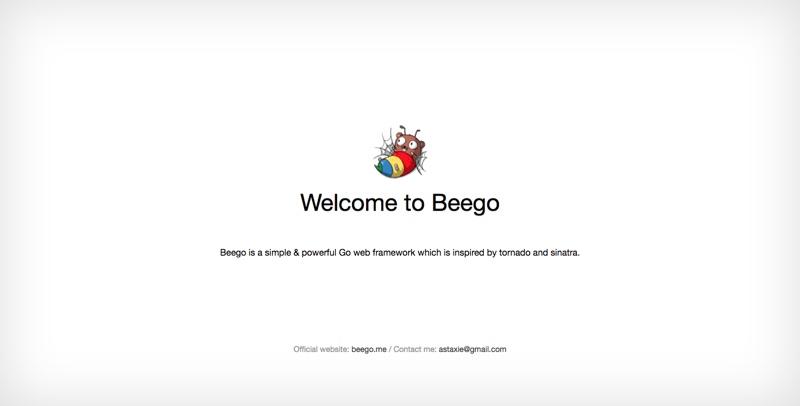 Beego Welcome