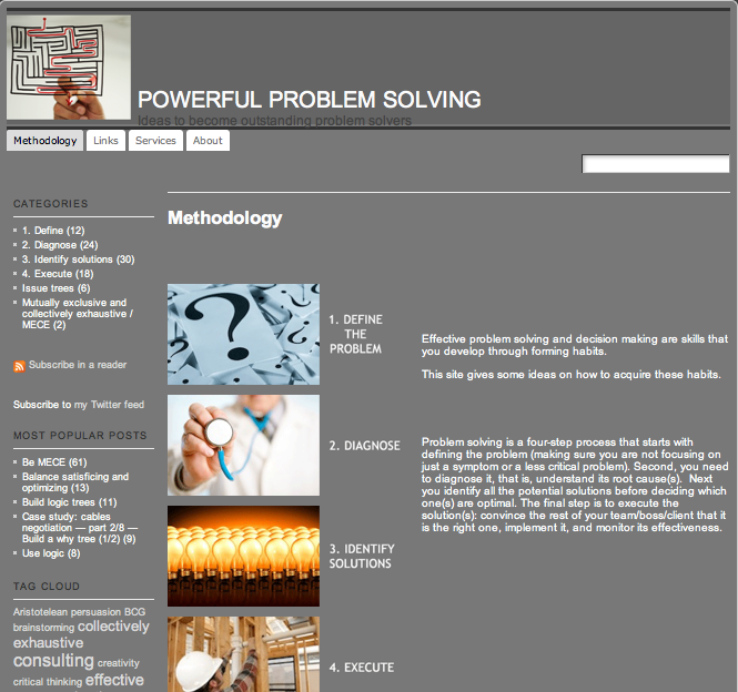 Site for problem solving