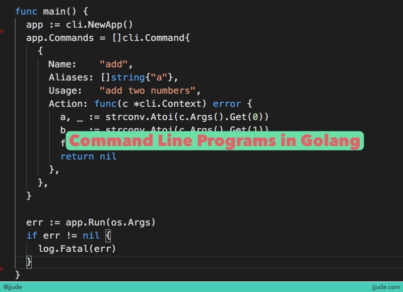 Command Line Program in Golang
